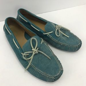 Cole Haan canvas driving loafers blue 12